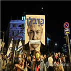 이스라엘,시위,제한,총리,코로나19