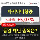 아시아나항공,기관,순매매량,외국인