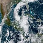 허리케인,멕시코,델타,지역,폭풍,열대성,주민