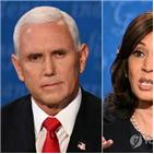 해리스,펜스,후보,부통령,트럼프,대통령,코로나19,토론,미국,바이든