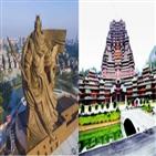 중국,당국,조각상,동상,높이,관우,초대형,불상,건축물
