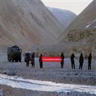 인도,국경,중국군