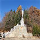 중국,기념탑,청산리전투,독립군,당시,설명,반일,대해