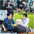 권상우,배성우,모습,개천,촬영,배우,사람,작가,박상규,기자