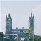휴게소,고속도로,중국,대형,디즈니랜드