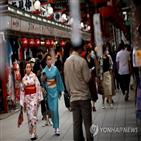 일본,투어,여행객,감염