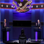 토론,대통령,트럼프,후보,바이든,발언,모습,논쟁
