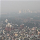 인도,트럼프,델리,대기오염,대통령,축제