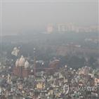 인도,트럼프,델리,대기오염,축제