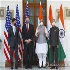인도,중국,미국,협력,장관,폼페이,이날,안보