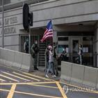 홍콩,망명,미국,영사관