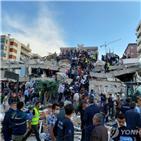 터키,붕괴,이즈미르,건물,지진