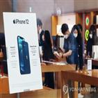 아이폰12,시장,행사,고객,출시,서울,국내