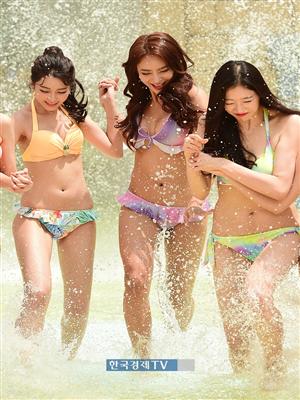 [포토]미스코리아 이윤지-송수현-김수진, 신나는 물놀이