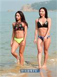 [포토]머슬마니아 전혜빈-홍다현, 양양 해변을 마이애미로 만드네