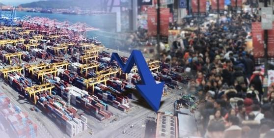 연이은 악재속 지난해 수출 두 자릿수 하락…무역은 1조달러 달성