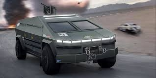 테슬라 군용 사이버트럭 예상 이미지 (출처 : 일렉트릭 퓨처)