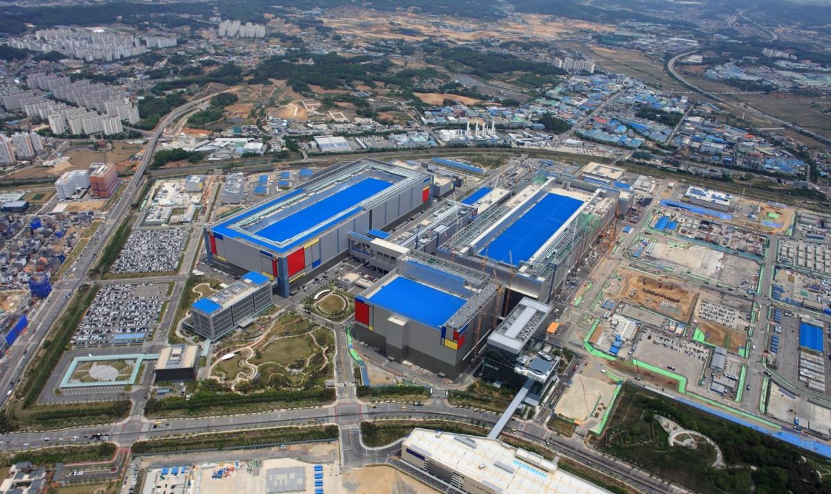 삼성전자 평택캠퍼스 항공 사진