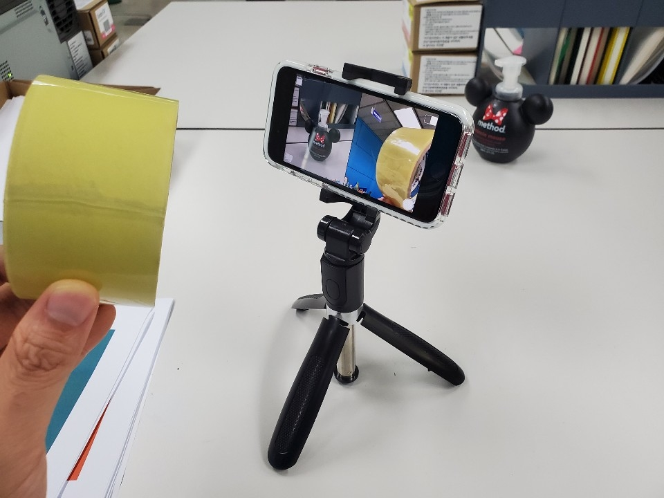아이폰SE 2세대 필믹프로 앱 구동 모습