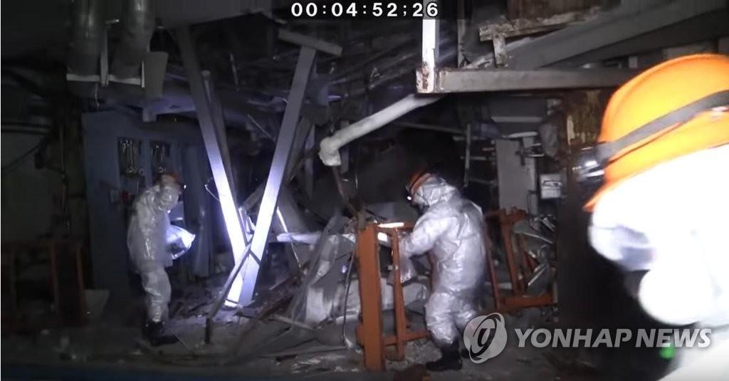 후쿠시마 제1원전 3호기 내부 (사진=일본 원자력규제위원회 유튜브 캡처)