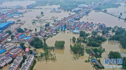 안후이성의 홍수 피해 (사진=신화통신 캡처)
