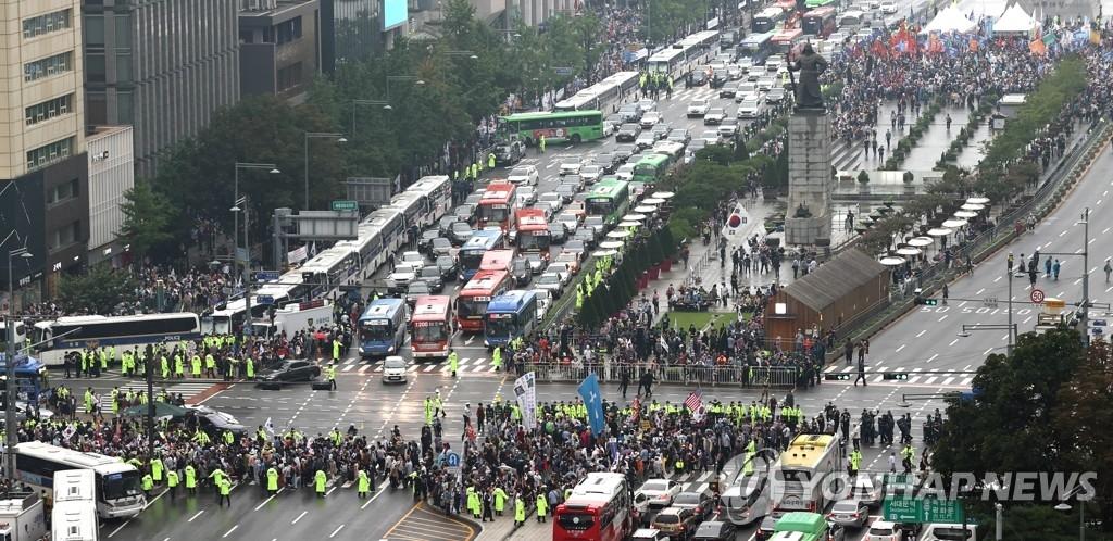 광화문 집회 모습 (사진=연합뉴스)