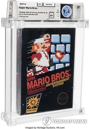35 년된 닌텐도 슈퍼 마리오 게임 카트리지 7 억 원에 판매