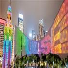 홍콩,여행,레스토랑,다양,센트럴,홍콩섬,가족,이용,야경,거리
