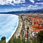 니스,마을,사람,아름다운,프랑스,가장,바다,에즈,건물,코트다쥐르