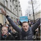 시위,푸틴,러시아,이날,대통령,연행,선거,대선