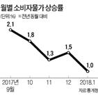 물가,영향,상승,소비자물가,기저효과,상승률