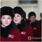 북한,응원단,예술단,남측,선수단,선수,경기