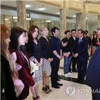 김정은,공연,레드벨벳,위원장,예술단,북한