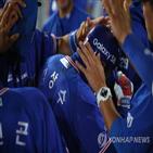 안타,1사,시즌,두산,승리,2타점,삼성,만루,김광현