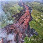 용암,하와이,주민,주변,화산