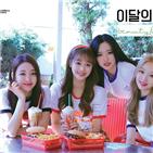 이달,소녀,앨범,빌보드,차트
