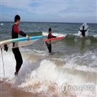 서핑,강릉,금진해변