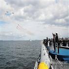 함정,해상사열,해군,사열,참가,로널드레이건호,좌승함,일출봉함,해군참모총장,탑승