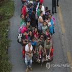캐러밴,미국,멕시코,이동,대통령,국경,온두라스,정부,이민자