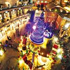홍콩,크리스마스,건물,트리,요리,음식,피엠큐,도시재생,빅토리아,광장