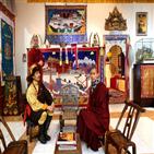 티베트,만다라,사람,박물관,라마,티베트인,중국,위해,부처,불교