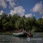 이민자,리오그란데강,아기,미국,고무보트,국경