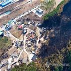 산불,피해,모습,소나무,지역,남아,농사,마을,도움,농기계