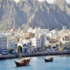 오만,무산담,지역,두바이,중동,해변,사막,바다,아름다운,여행