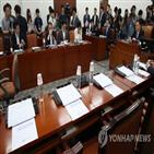 의원,한국당,패스트트랙,논의,참석,사개특위,간사,회의,다시