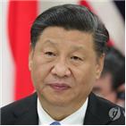 주석,홍콩,시위,중국,대한,톈안먼,도전