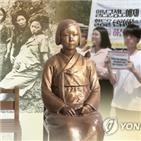 소녀상,경찰,시민,한국인
