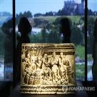 에트루리아,로마,그리스,유물,전시,유골함,여성,기원전,에트루리아인,고대