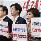 KBS,한국당,손해배상,의원,청구,이날,사장