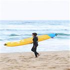 바다,장도연,서핑,들린,크루